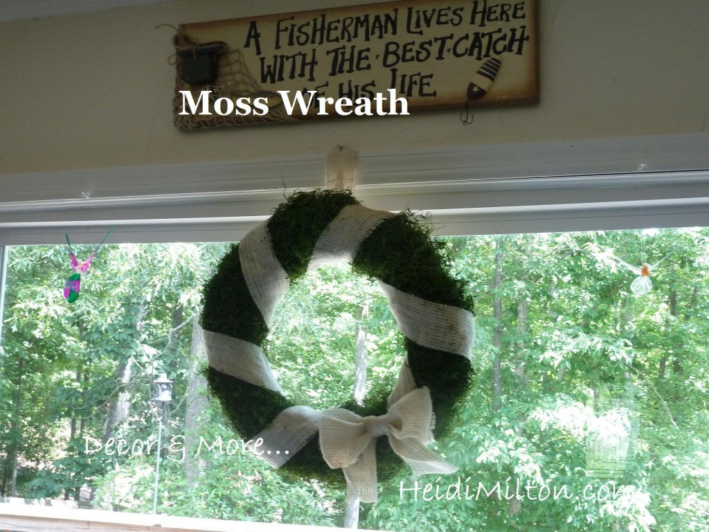 moss and burlap wreath