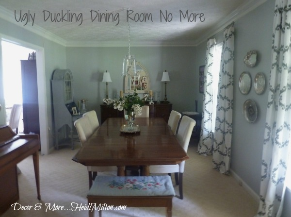 BWOB ugly duckling dining room after
