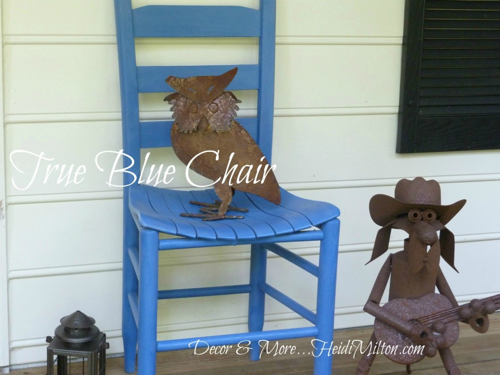 flea market blue chair
