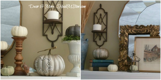 fall mantel mantle collage