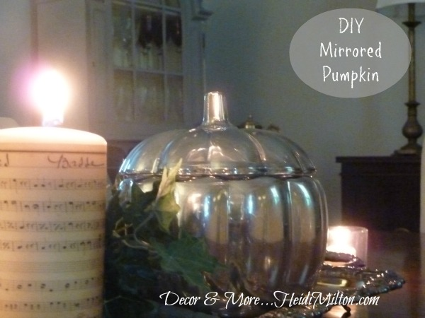 DIY mirrored pumpkin