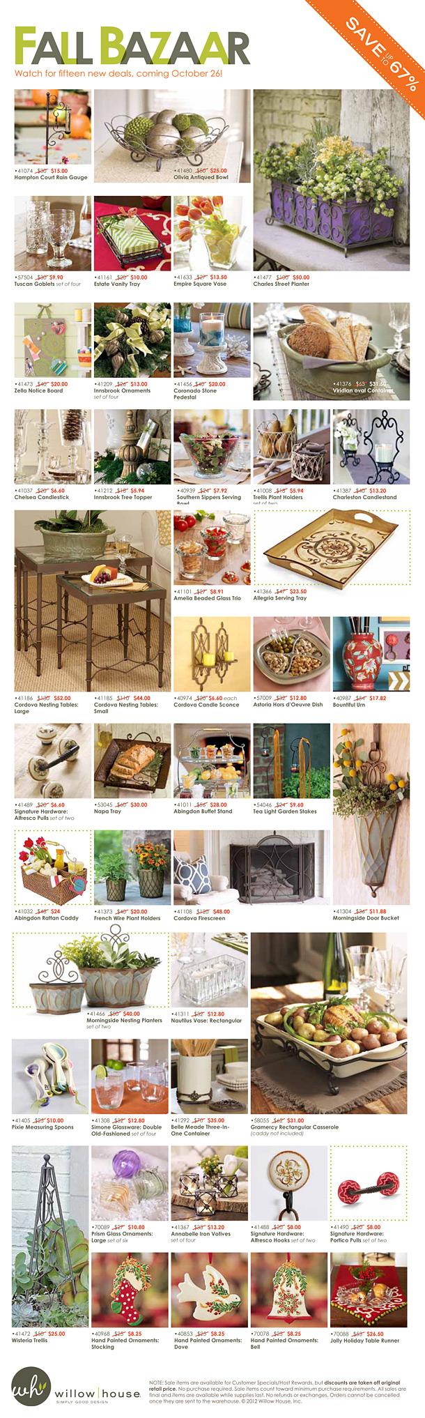 Willow House Fall Bazaar Oct 12
