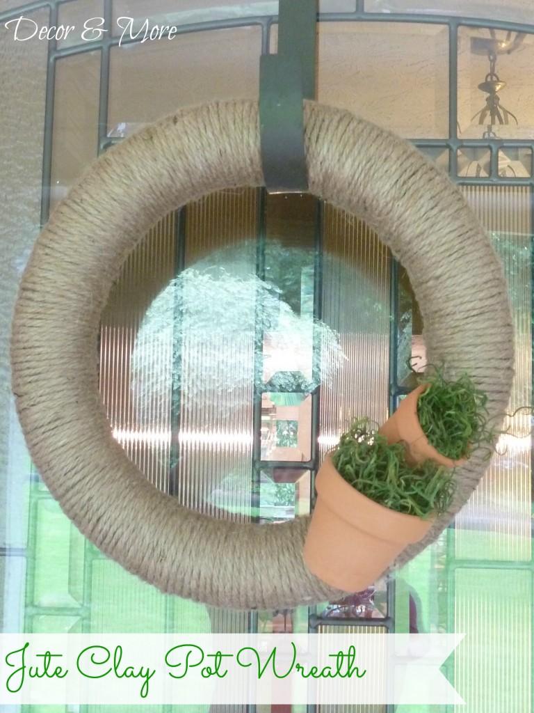 Jute Clay Pot Wreath cover